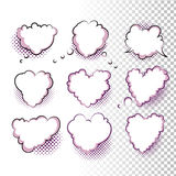 Comic Valentine Hearts Royalty Free Stock Images