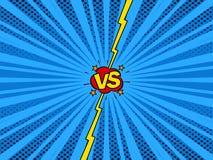 Comic versus super hero battle intro background Royalty Free Stock Photography