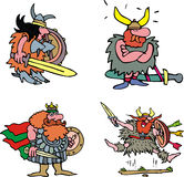 Comic viking warriors Stock Images