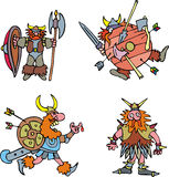 Comic viking warriors Stock Photo