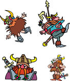 Comic viking warriors Royalty Free Stock Photo