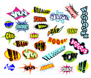 Comic Word Expressions Royalty Free Stock Photos