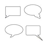 Comic work. Shape for speaking on white background Royalty Free Stock Photo