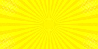 Comic yellow sun rays background pop art retro  illustration kitsch drawing vector illustration