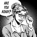 Comic are you ready Stock Photos