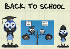 Comical back to school Royalty Free Stock Photography