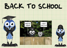 Comical back to school Stock Images