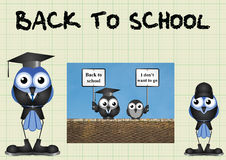 Comical back to school Royalty Free Stock Images