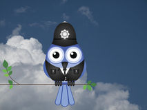 Comical bird policeman Royalty Free Stock Photos