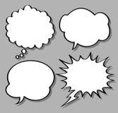 Comical bubble speech. Set of comical bubble speech royalty free illustration