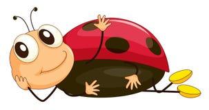 Comical creature. Illustration of a comical ladybug royalty free illustration