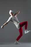 Comical dancer guy Royalty Free Stock Images