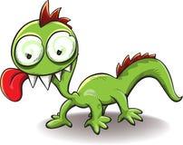 Comical dragon with tongue hanging out Stock Photos
