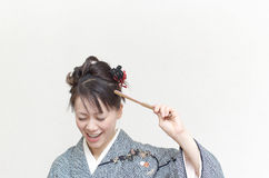 Comical Japanese woman Royalty Free Stock Image