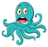 Comical octopus on white Royalty Free Stock Images