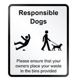 Comical responsible dogs Information Sign Royalty Free Stock Photos