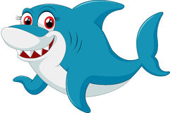 Comical shark character on white background Royalty Free Stock Image
