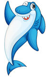 Comical shark illustration. Illustration of a blue and white shark Stock Photography