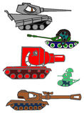 Comical tanks. Stock Photo