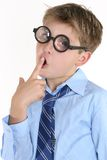 Comical Thinking Boy Stock Images