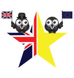 Comical UK exit from the European Union symbol Royalty Free Stock Photo