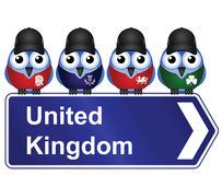 United Kingdom. Comical United Kingdom sign isolated on white background Stock Images