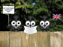 Comical United Kingdom Trade Delegation Royalty Free Stock Photography