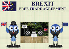 Comical United Kingdom Trade Delegation Royalty Free Stock Photos