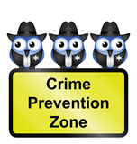 Comical USA crime prevention zone Royalty Free Stock Photography