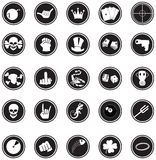 Comicbuttons Stock Image