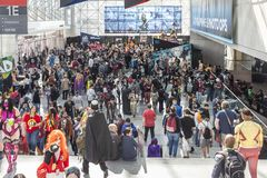 ComicCon NYC 2018 royalty free stock images