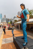 Comicfigur an der Allee von komischen Sternen in Hong Kong Stockbilder
