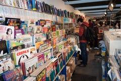 Comics στην επίδειξη σε Cartoomics 2014 Στοκ εικόνες με δικαίωμα ελεύθερης χρήσης