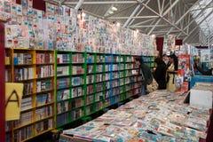 Comics στην επίδειξη Festival del Fumetto στη σύμβαση στο Μιλάνο, Ιταλία Στοκ Εικόνες