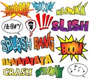 Comics. Funny comic book sound effects Royalty Free Stock Image