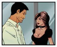 Comics art Couple royalty free stock photos
