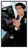 Comics art man royalty free stock image