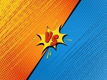 Comics background. Comics fight background. Versus battle. Cartoon vector illustration vector illustration