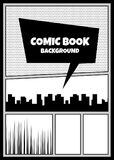 Comic book pop art monochrome mock up Stock Image
