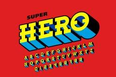 Comic books style font, super hero alphabet