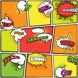 Comics bubbles bright colors collection Royalty Free Stock Images