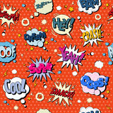 Comics Bubbles Seamless Pattern in Pop Art Style Royalty Free Stock Images