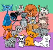 Comics cats cartoon characters group. Cartoon Illustration of Comic Cats and Kittens Animal Characters Group Stock Image