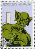 Comics character. GUINEA - CIRCA 1999: stamp printed by Guinea, shows character, circa 1999 Stock Photos