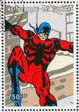 Comics character. GUINEA - CIRCA 1999: stamp printed by Guinea, shows Comics character, circa 1999 Royalty Free Stock Images