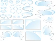 Comics Clouds and Stickers Royalty Free Stock Image