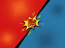 Comics. Comic book versus background. Vector illustration pop art style Stock Images