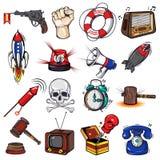 Comics Decorative Elements Set Stock Images