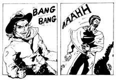 Comics der alten Art Lizenzfreies Stockbild