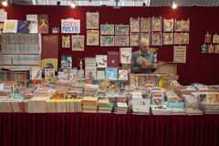 Comics on display at Festival del Fumetto convention in Milan, Italy Royalty Free Stock Image